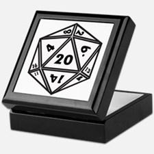 D20 White Keepsake Box