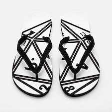 D20 White Flip Flops