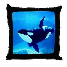 Killer Whale Throw Pillow