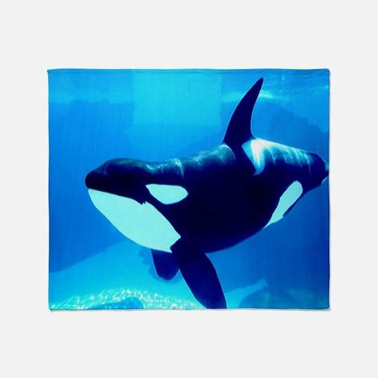 Killer Whale Throw Blanket