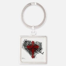 It is Finished Square Keychain