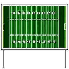 American Football Field Yard Sign
