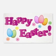 Happy Easter Bunny 3'x5' Area Rug