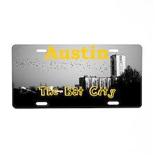 Austin_5x3rect_sticker_BatC Aluminum License Plate