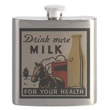 1935 Milk Ad Flask