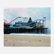 Jersey Shore Seaside Heights Boardwa Throw Blanket