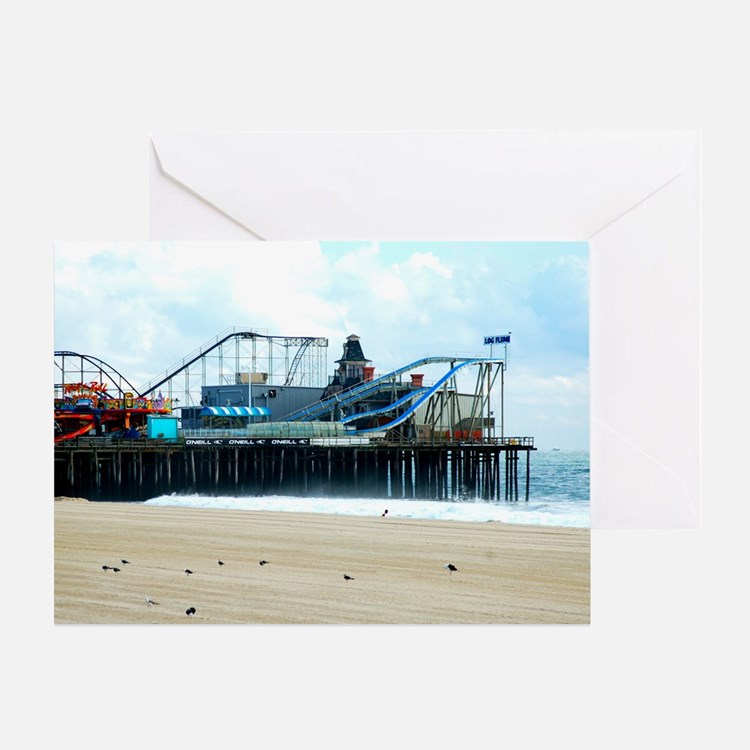 Jersey Shore Seaside Heights Boardwa Greeting Card