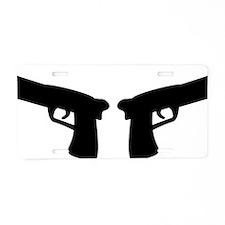 guns Aluminum License Plate