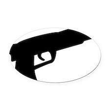 gun Oval Car Magnet