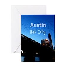 Austin_9x13.6_CongressAvenueBridgeBa Greeting Card