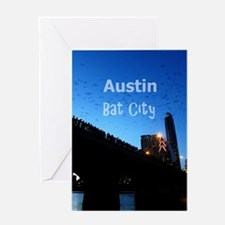 Austin_9x13.6_CongressAvenueBridgeBa Greeting Card