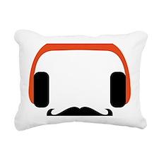 mustache_headphone Rectangular Canvas Pillow