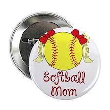 "Softball mom blonde 2.25"" Button"