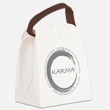 Karma, What goes around comes aro Canvas Lunch Bag