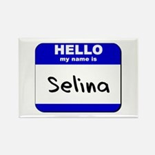hello my name is selina Rectangle Magnet