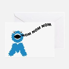 om_nom_nom_nom_monster Greeting Card