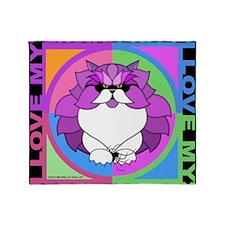 Persian Kitty Cat Graphics Throw Blanket