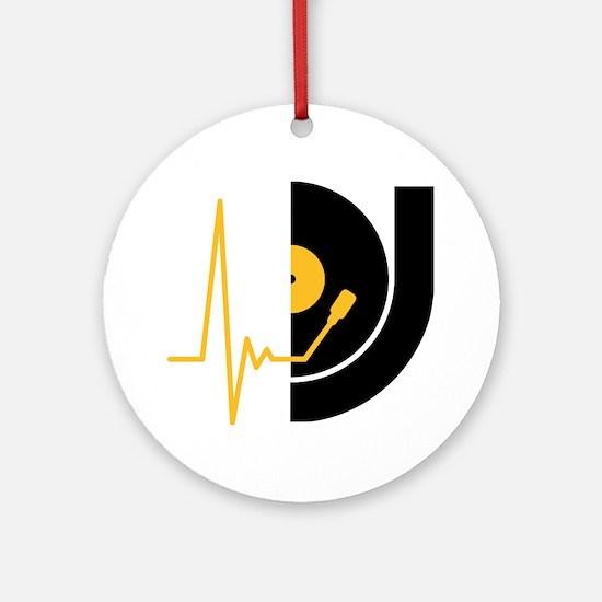 music_pulse_dj Round Ornament