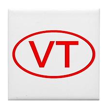 VT Oval (Red) Tile Coaster