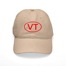 VT Oval (Red) Baseball Cap