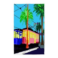 cable car poster 3'x5' Area Rug
