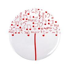 """Music umbrella_red 3.5"""" Button"""