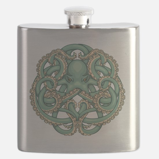 Octopus Emblem Flask