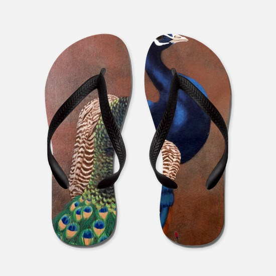 StephanieAM Peacock Flip Flops
