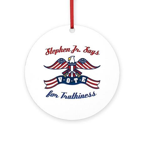 StephenJr Vote Truthi Ornament (Round)