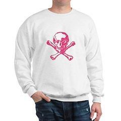 Vintage Pink Skull Sweatshirt