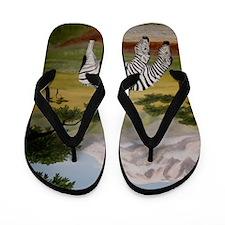 StephanieAM Zebras Flip Flops