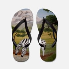 StephanieAM Zebras Flip Flops