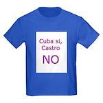 Cuba si, Castro NO. Kids Dark T-Shirt