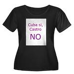 Cuba si, Castro NO. Women's Plus Size Scoop Neck D