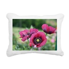 Monets Poppies Rectangular Canvas Pillow