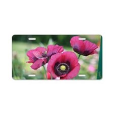 Monets Poppies Aluminum License Plate