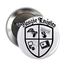 "Boogie Knights - White Shirts 2.25"" Button"