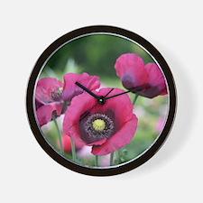 Monets Poppies Wall Clock