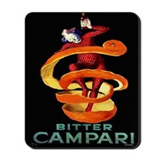Viintage Cappiello Campari Shower Curtai Mousepad