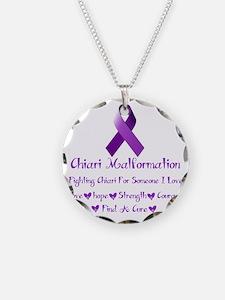 Chiari Malformation Awarenes Necklace Circle Charm