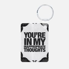 Inappropriate Thoughts Pic Keychains