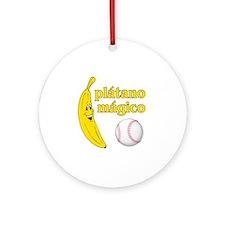 Plátano Mágico Round Ornament