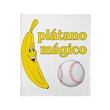 Plátano Mágico Throw Blanket