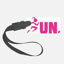 RUN. - Pink Luggage Tag