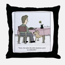 Dog Donation Throw Pillow
