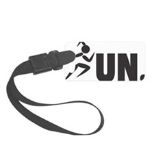 RUN. - Black Luggage Tag