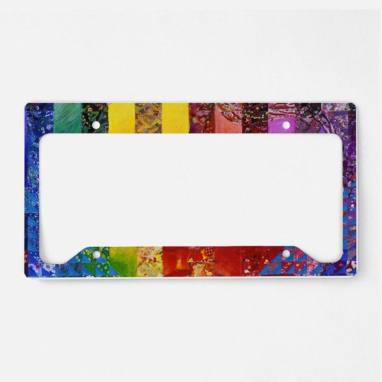 Conundrum I – Rainbow Woman License Plate Holder