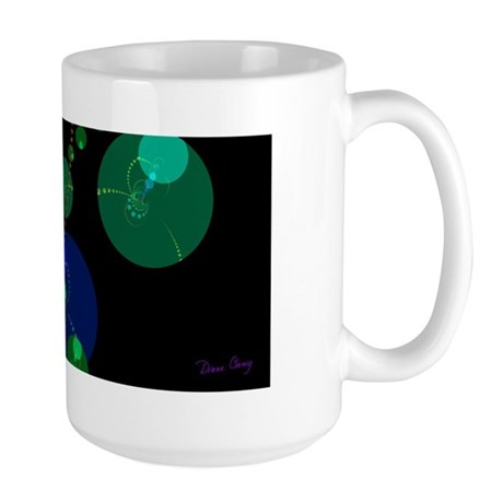 Abstract Dance of the Spheres Large Mug