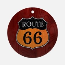 rt66-woodsteel-CRD2 Round Ornament