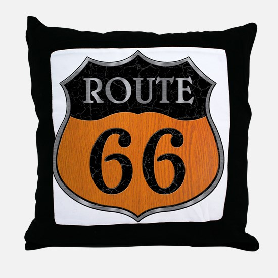 rt66-woodsteel-T Throw Pillow